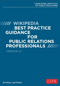CIPR Wikipedia guidance 2.1 cover