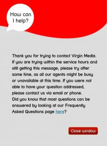 Virgin: how can we help (how about having a chat service that works?)