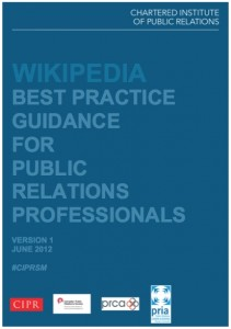 Wikipedia CIPR guidance June 2012